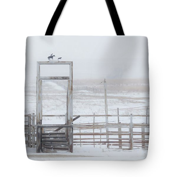 Tote Bag featuring the photograph Snow And Corral 01 by Rob Graham