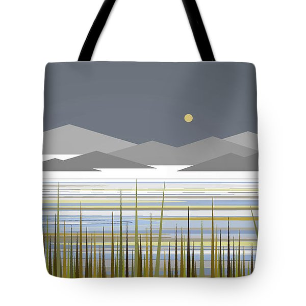 Snow And Ice On The Water Tote Bag