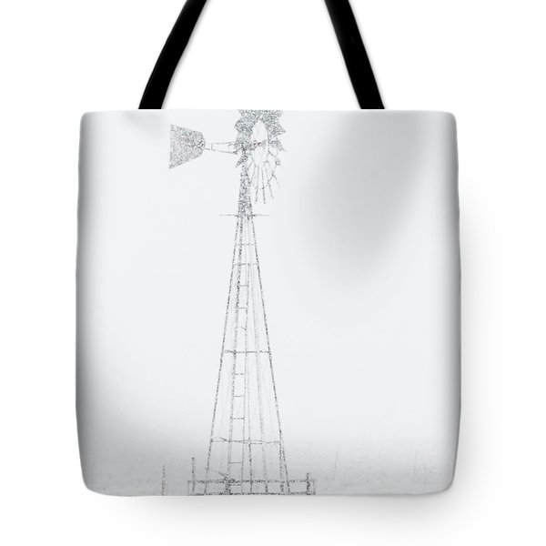 Tote Bag featuring the photograph Snow And Windmill 04 by Rob Graham