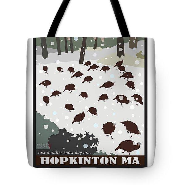 Snow Day In Hopkinton Tote Bag