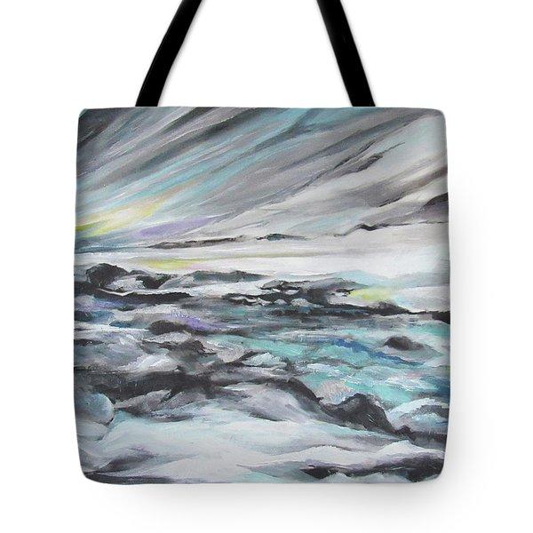 Snow Flow Tote Bag