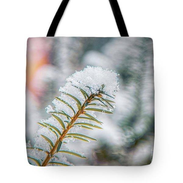 Snow Needle Tote Bag