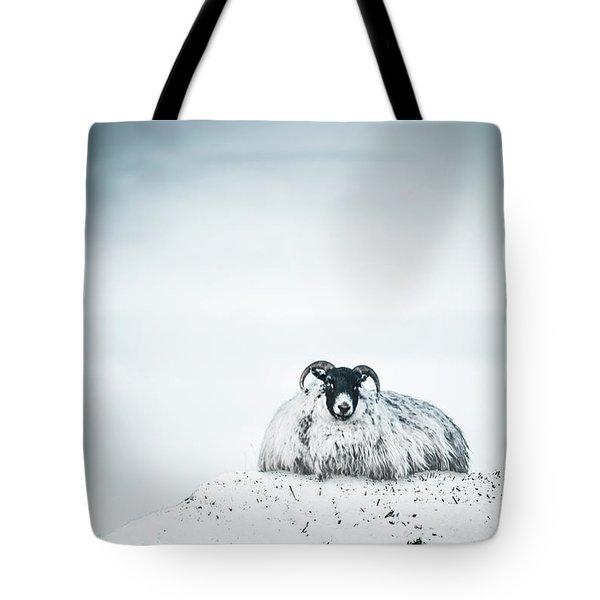 Snow Sheep Tote Bag