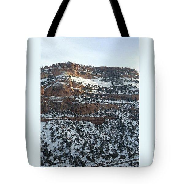 Snow Steps Tote Bag