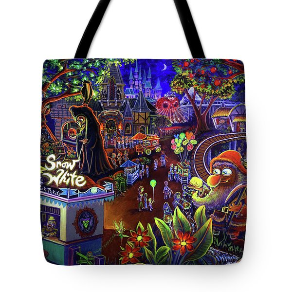 Snow White Amusement Park Tote Bag