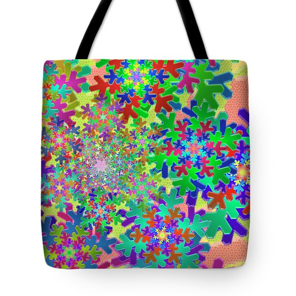 Snowflake Two Remix One Tote Bag