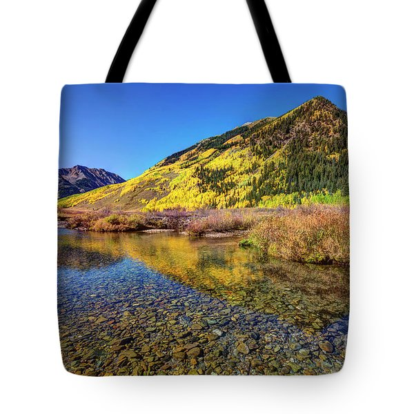 Tote Bag featuring the photograph Snowmass Creek by Joe Sparks