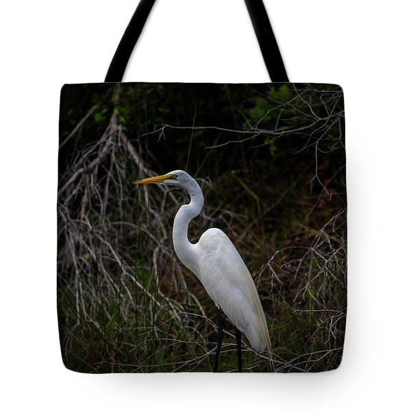 Snowy Egret On A Hot Summer Day Tote Bag
