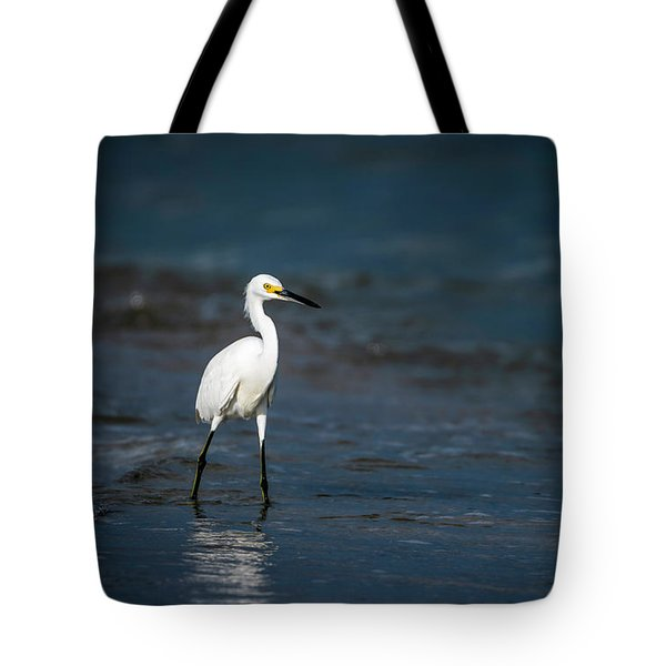 Snowy In The Surf Tote Bag