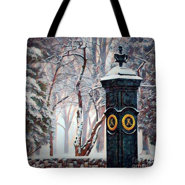 Snowy Keeneland Tote Bag