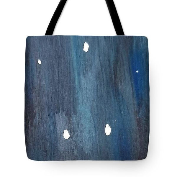 Tote Bag featuring the painting Snowy Night by Maria Langgle
