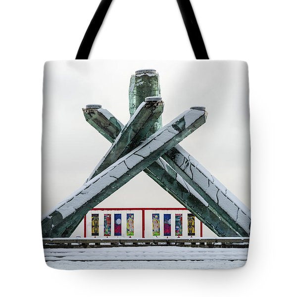 Snowy Olympic Cauldron Tote Bag