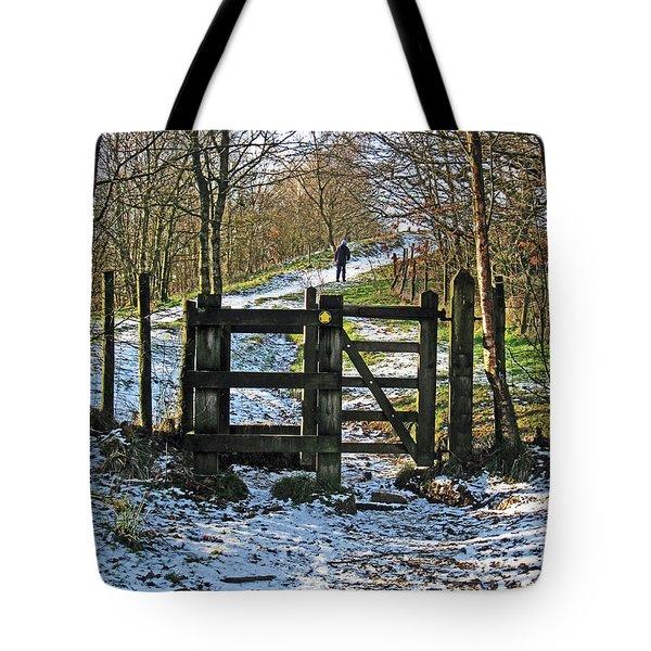 Snowy Path Tote Bag
