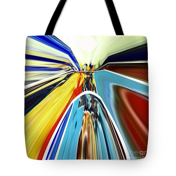 Tote Bag featuring the digital art So Far Away by A zakaria Mami