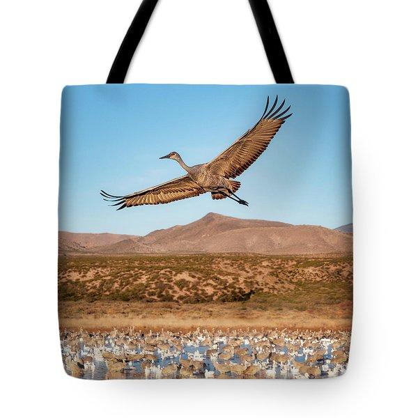 Soaring Sandhill Tote Bag