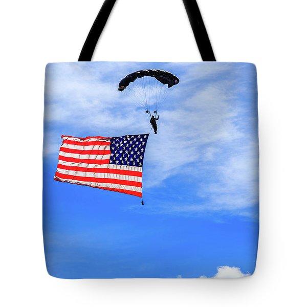Socom Flag Jump Tote Bag