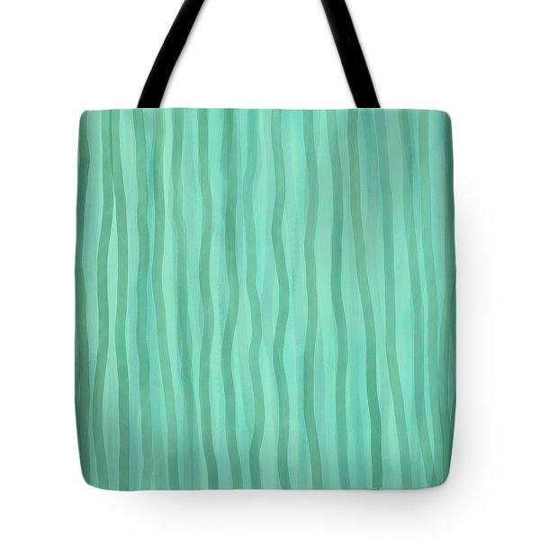 Soft Green Lines Tote Bag