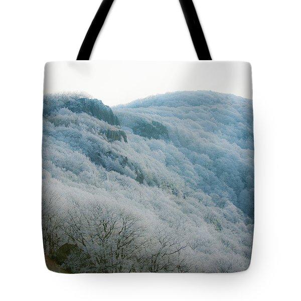 Soft Hoarfrost Tote Bag