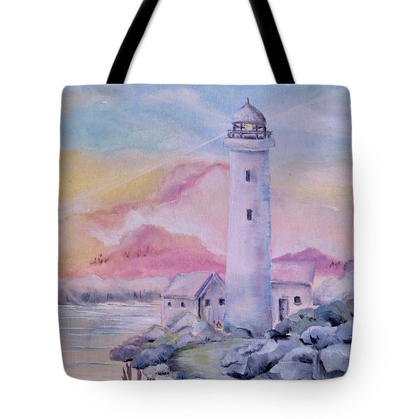 Soft Lighthouse Tote Bag