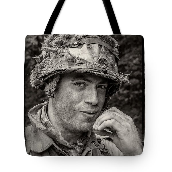 Tote Bag featuring the photograph Soldier by Bernd Laeschke