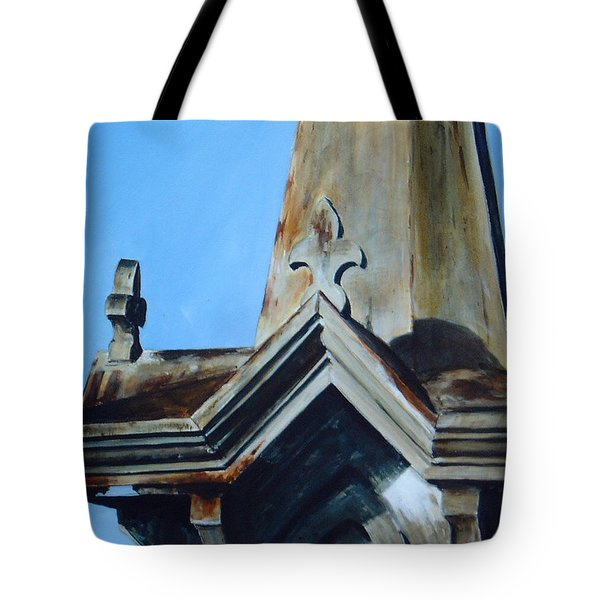 Tote Bag featuring the painting Solitaire by William Brody