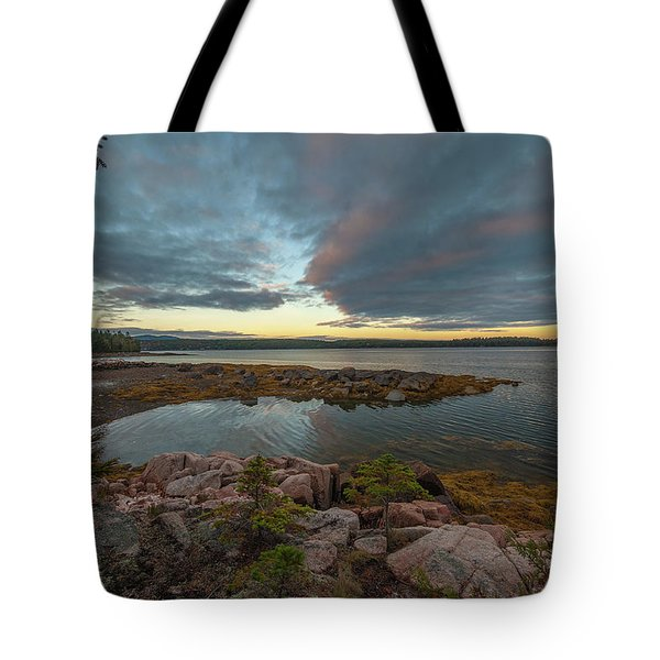 Tote Bag featuring the photograph Somes Sound Sunset by Rick Hartigan