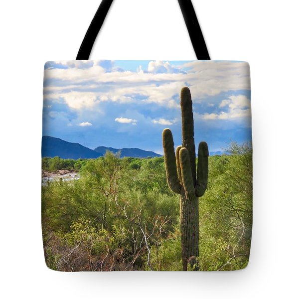 Sonoran Desert Landscape Post-monsoon Tote Bag