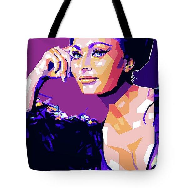 Sophia Loren Pop Art Tote Bag