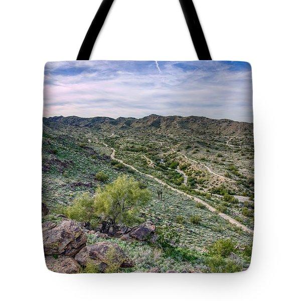 South Mountain Landscape Tote Bag