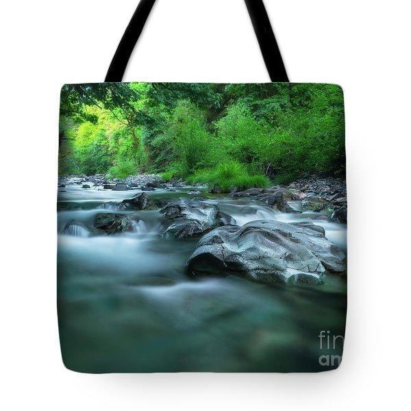 South Santiam River Tote Bag