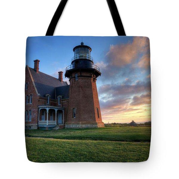 Southeast Light Sunrise Tote Bag