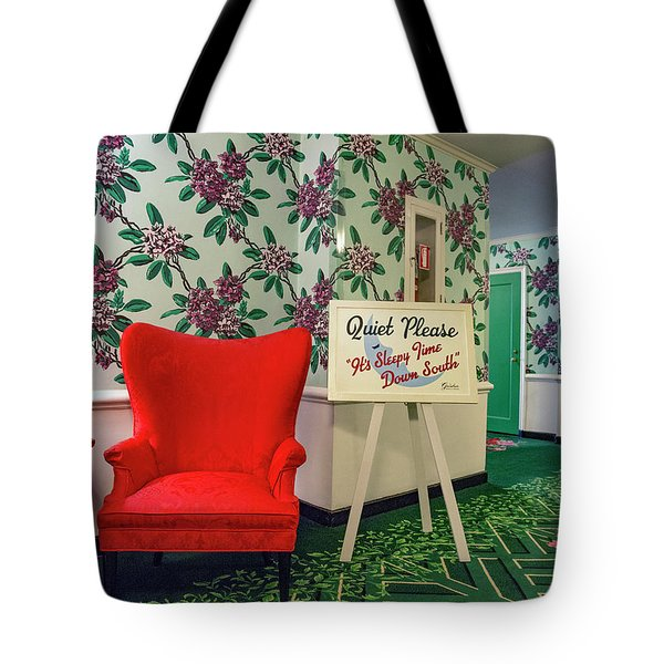 Southern Quiet Please  Tote Bag