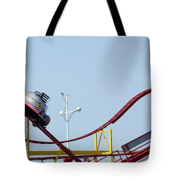 Southport.  The Fairground. Crash Test Ride. Tote Bag