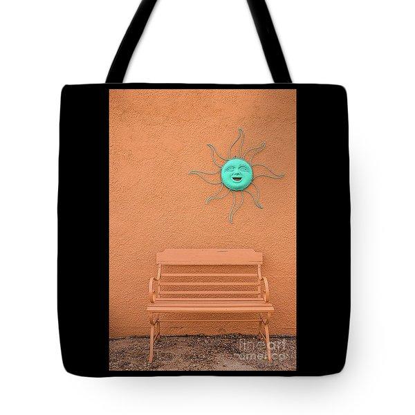 Southwestern Bench  Tote Bag