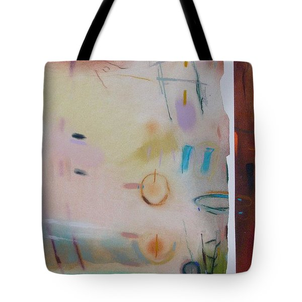 Tote Bag featuring the drawing Southwestern Vista by Camille Rendal