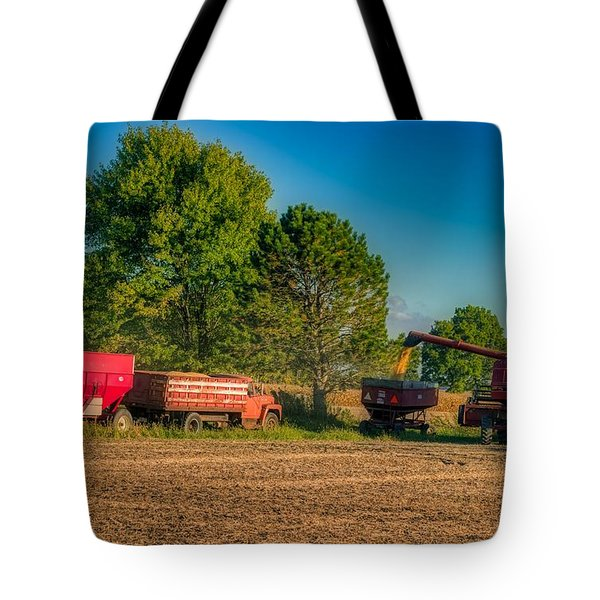 Soybean Harvest In Ohio Tote Bag
