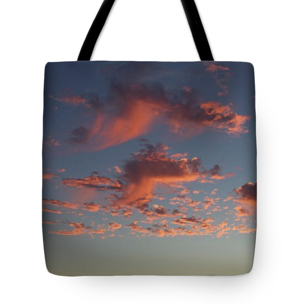 Space Needle And Pink Clouds Tote Bag