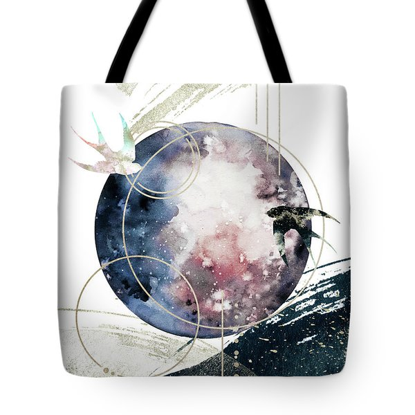 Tote Bag featuring the digital art Space Operetta by Bee-Bee Deigner
