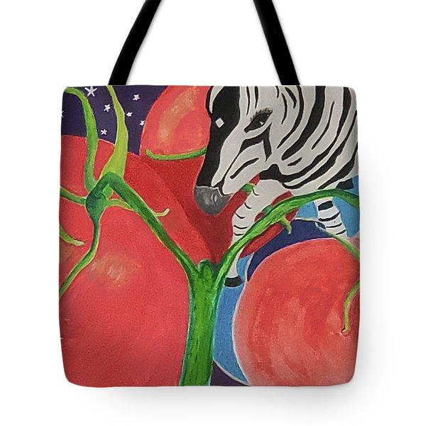 Space Zebra Tote Bag