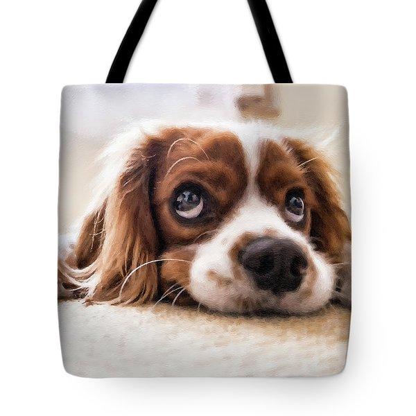 Spaniel Puppy Dwp2785074 Tote Bag