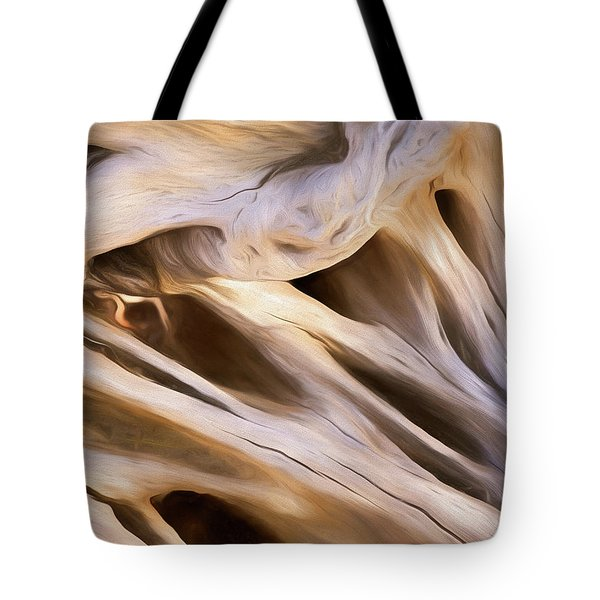 Tote Bag featuring the mixed media Spare Root 3 by Lynda Lehmann