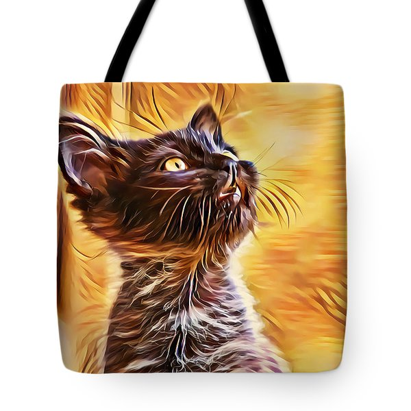 Special Long Neck Kitty Tote Bag