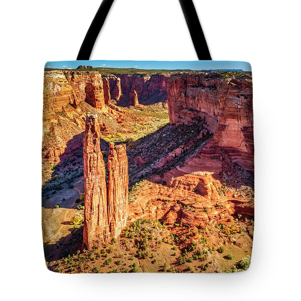 Tote Bag featuring the photograph Spider Rock by Andy Crawford