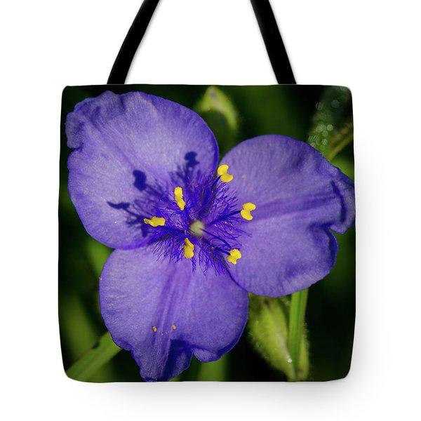Spiderwort Flower Tote Bag
