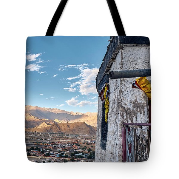 Tote Bag featuring the photograph Spituk Gompa by Whitney Goodey