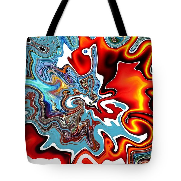 Tote Bag featuring the digital art Splash by A zakaria Mami