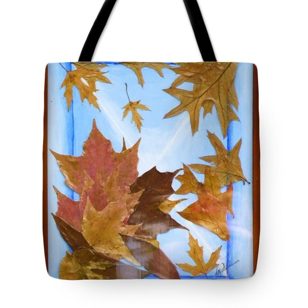 Splattered Leaves Tote Bag