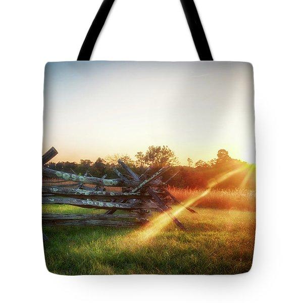 Split-rail Sunset Tote Bag