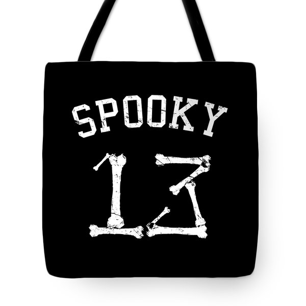 Spooky 13 Halloween Jersey Tote Bag