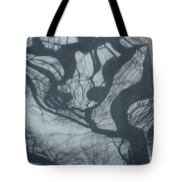 Spooky Tree Number Three Tote Bag